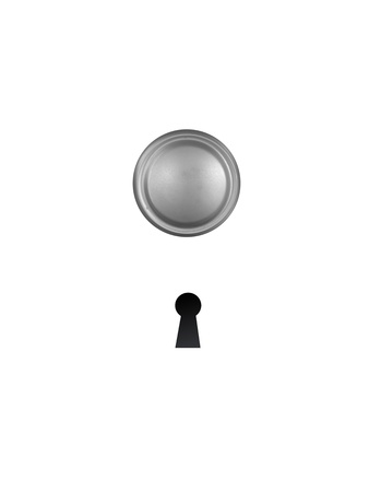 A keyhole isolated against a black background Stock Photo - 17456049