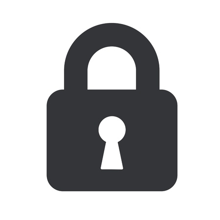 A padlock isolated against a white background 스톡 콘텐츠