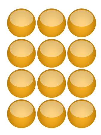 A modern keypad layout isolated on white Stock Photo - 17456100