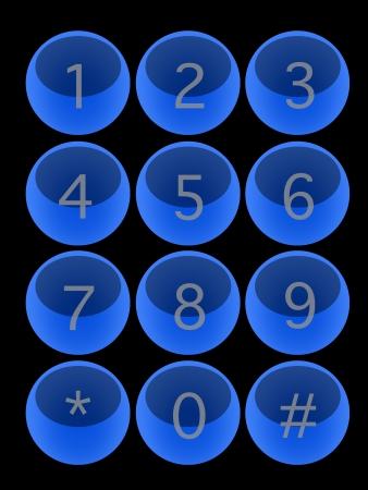 A modern keypad layout isolated on white Stock Photo - 17456101