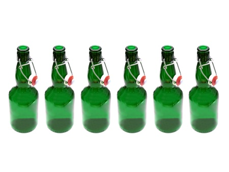 brewage: Beer bottles isolated against a white background