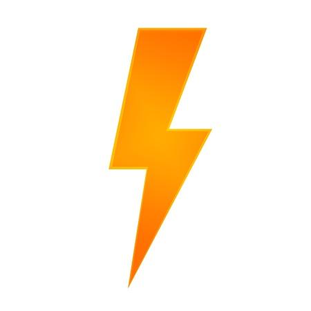 Conceptual illustration of lightning on a plane background illustration