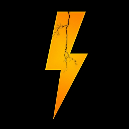 forked: Conceptual illustration of lightning on a plane background