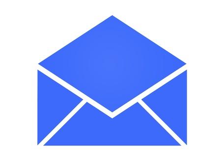 An illustrative stationery envelope on a blank background