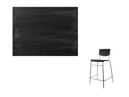 A school chalk board with chalk stains photo