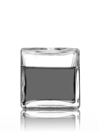 Glass blocks isolated against a white background photo