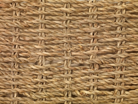 Woven baskets isolated against a white background photo