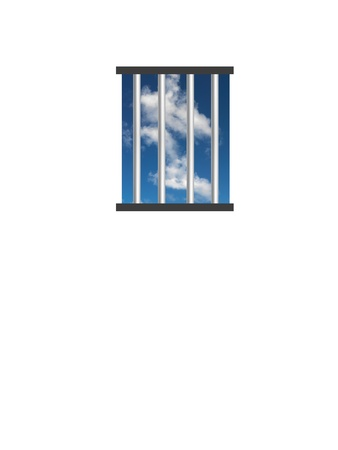 A conceptual image of a prison cell window photo