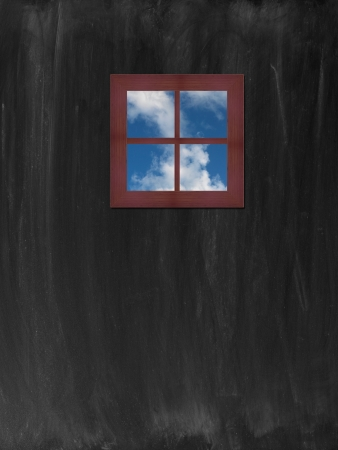 A conceptual image of a window with a view Stock Photo - 21609949