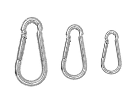 rapell: A climbing carbiner isolated against a white background