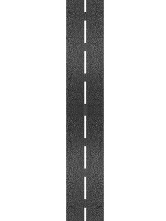 A bitumen road isolated against a white background