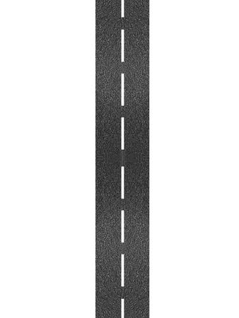 Eine Asphaltstraße vor einem weißen Hintergrund isoliert Standard-Bild - 21609986