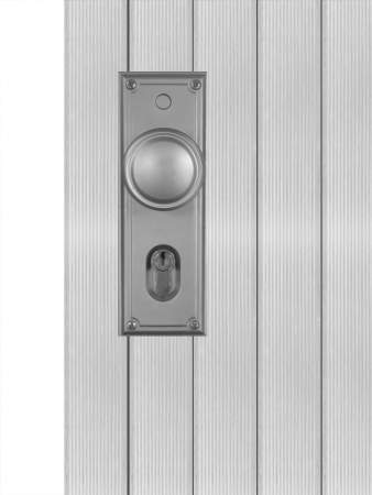 Doors and door handles isolated on white photo