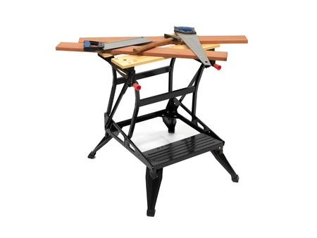 A work bench isolated against a white background photo
