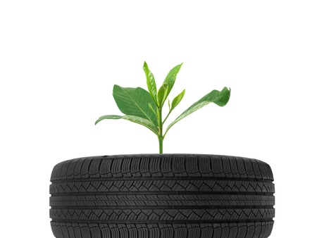 A black rubber tyre isolated against a white background Stock Photo - 22391387