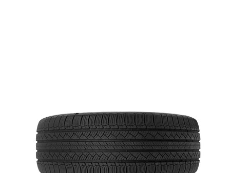 A black rubber tyre isolated against a white background Stock Photo - 22384159