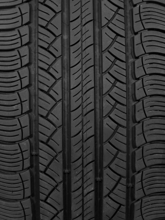 A black rubber tyre isolated against a white background Stock Photo - 22391391