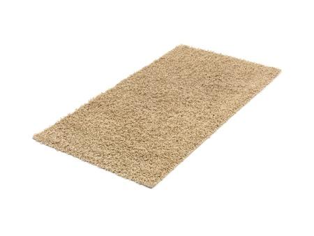 無地の背景に分離された床の敷物