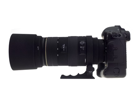 camera lens: Photographic equipment isolated against a white background