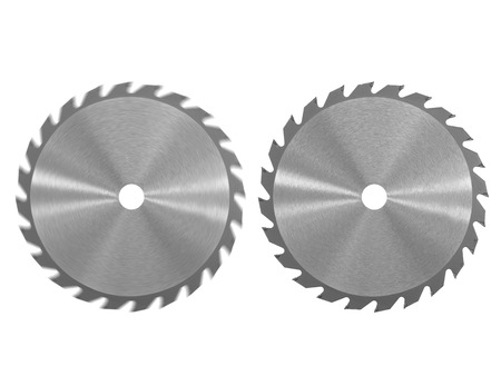 A saw blade isolated against a white background photo