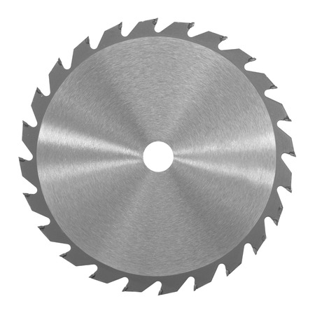 A saw blade isolated against a white background