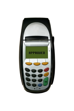 eftpos: A eftpos machine on a plain background