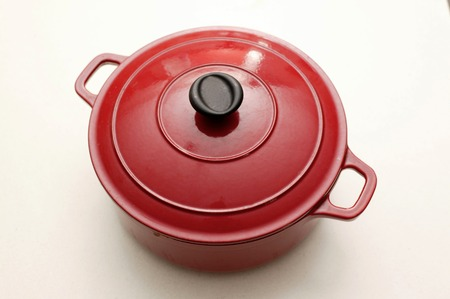 backing: A backing pot isolated on a kitchen bench