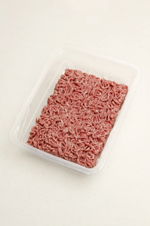 close uo: A close uo shot of raw beef mince Stock Photo