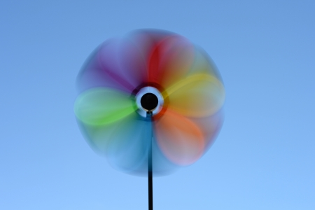 gig: A close up shot spinning wind whirly gig Stock Photo