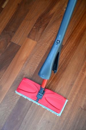 A close up shot od a floor mop photo