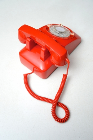 comunicacion oral: Un teléfono de su casa en un banco de la cocina Foto de archivo