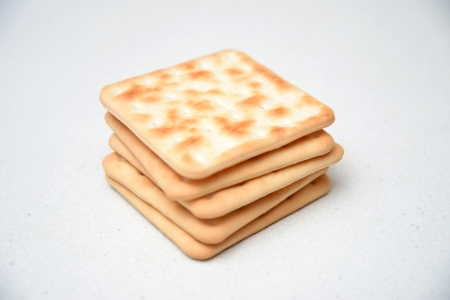 Cracker biscuits isolated on a kitchen bench