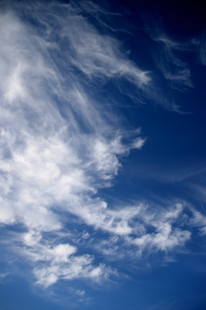 contrasty: A contrasty blue cloudy sky photographed during the day