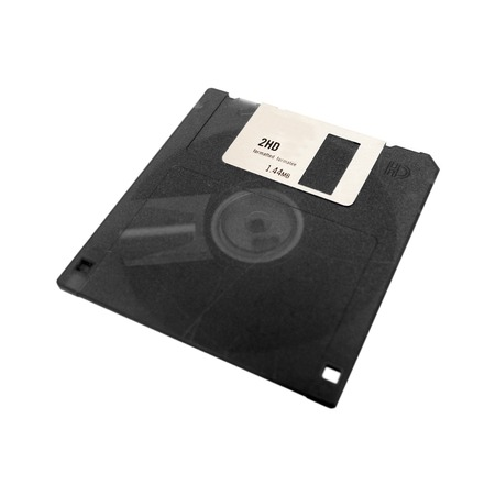 A computer floppy disk isolated on a white background Stock Photo