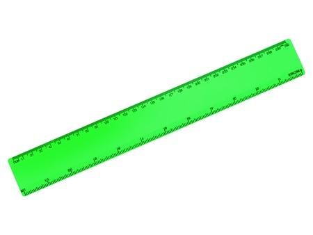 millimetre: Rulers isolated against a plainwhite background