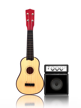 overdrive: Musical equipment isolated against a plain background Stock Photo