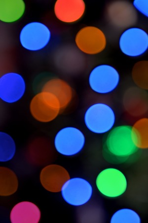 An abstract image of christmas lights blurred photo