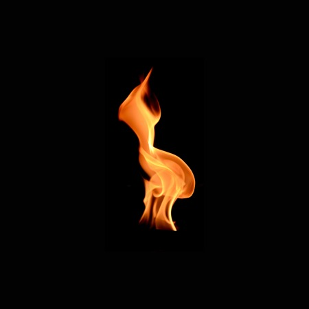 A shot of a flame on a plain backgrpond photo