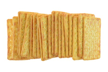 copse: A copse up shot of savoury crackers