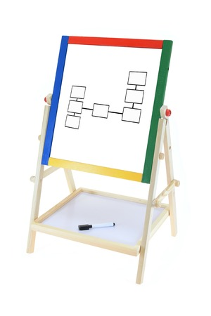 A childs play board isolated on a white background photo