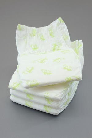 incontinence: A close up shot of childs nappies Stock Photo
