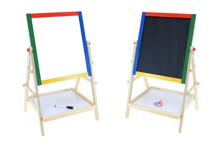 A childs play boards isolated on a white background photo