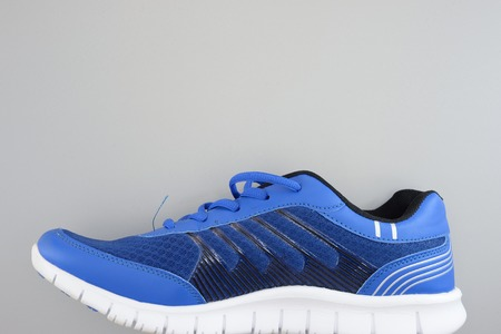 A close up shot of running shoe photo