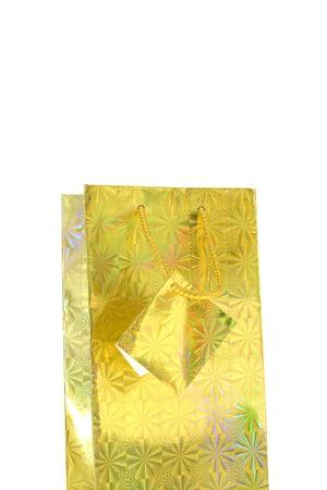 A close up shot of a gift bag photo