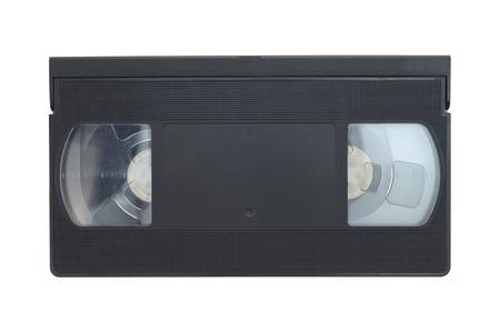 vhs videotape: A close up shot of a video cassette Stock Photo