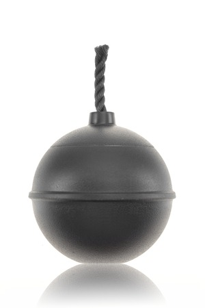 to make believe: A close up shot of a make believe bomb Stock Photo