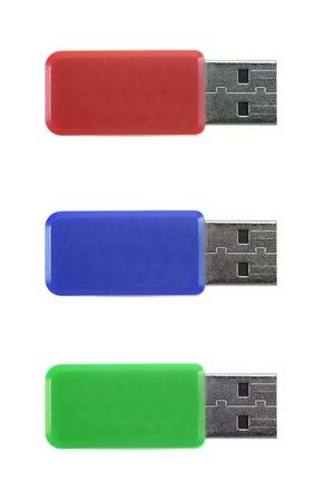 A close up shot of a USB stick photo