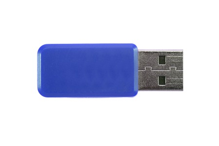 A close up shot of a USB stick Stock Photo