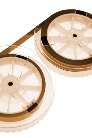 A close up shot of VHS Internal ribbon tape photo