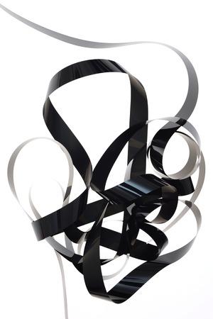 vcr: A close up shot of VHS Internal ribbon tape Stock Photo